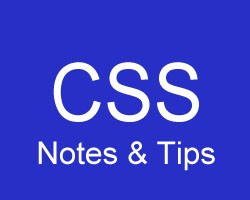 CSS_Notes & Tips