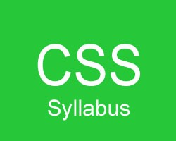 CSS_Syllabus